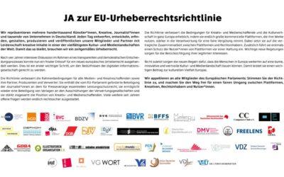 JA zur EU-Urheberrechtsrichtlinie